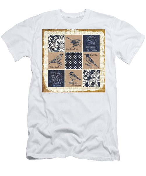 Vintage Songbird Patch 2 Men's T-Shirt (Slim Fit) by Debbie DeWitt