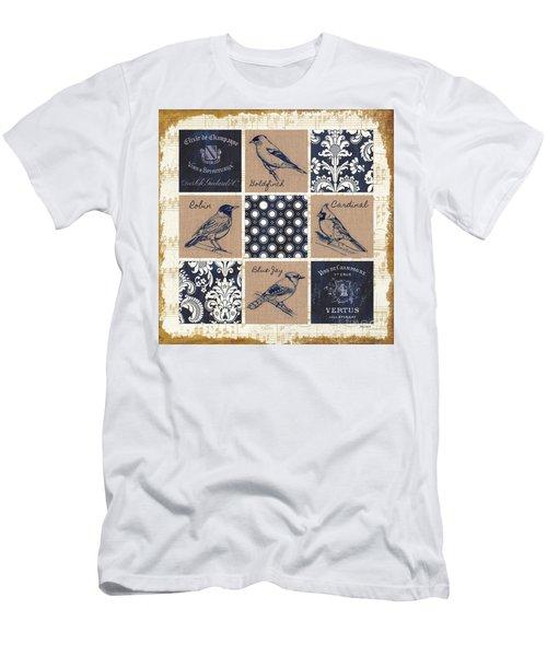 Vintage Songbirds Patch Men's T-Shirt (Athletic Fit)
