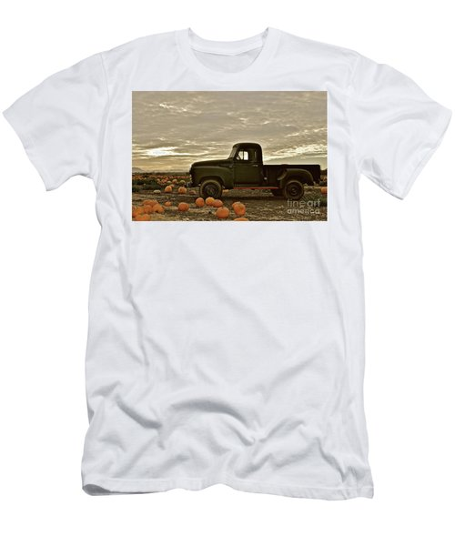 Vintage Truck Two In Pumpkin Graveyard Men's T-Shirt (Athletic Fit)