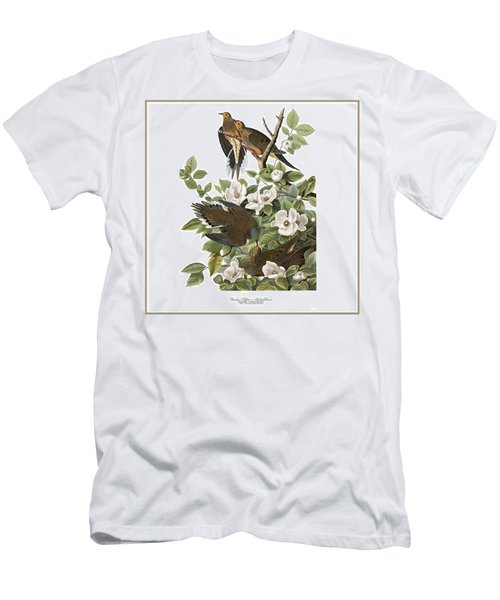 Vintage Turtle Doves Audubon Men's T-Shirt (Athletic Fit)