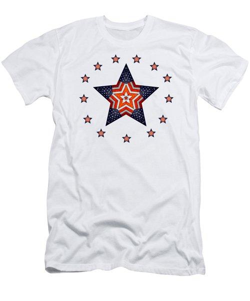 Vintage Us Fag Star Men's T-Shirt (Athletic Fit)