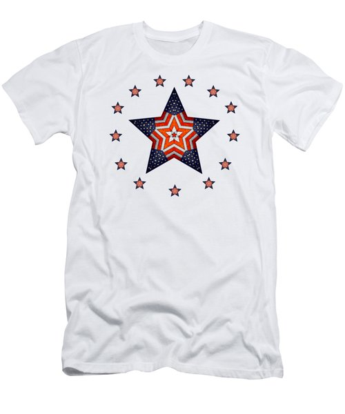 Vintage Us Fag Star Men's T-Shirt (Athletic Fit)