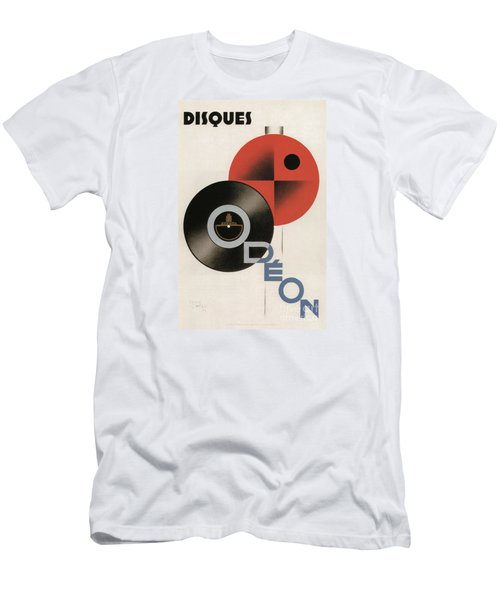 Vintage Vinyl Records Art Deco Men's T-Shirt (Athletic Fit)