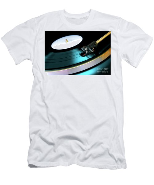 Men's T-Shirt (Slim Fit) featuring the photograph Vinyl Record by Carlos Caetano