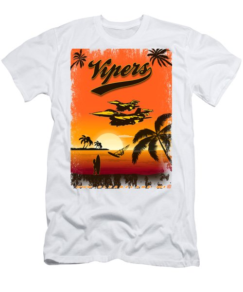 Vipers  F16 Men's T-Shirt (Slim Fit) by Clear II land Net