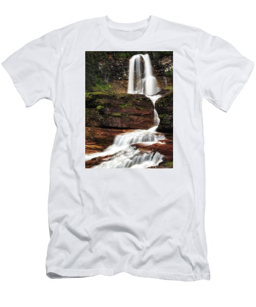 Virginia Falls Glacier National Park Men's T-Shirt (Athletic Fit)