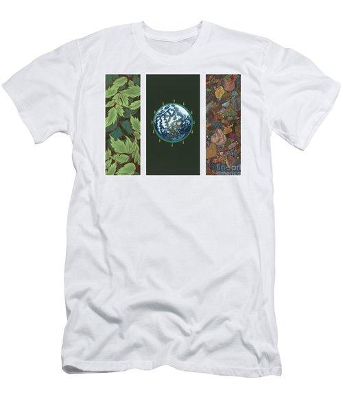 Viriditas Triptych Men's T-Shirt (Athletic Fit)