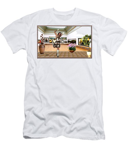 Virtual Exhibition - A Girl With A Pairro Dress Men's T-Shirt (Slim Fit) by Danail Tsonev