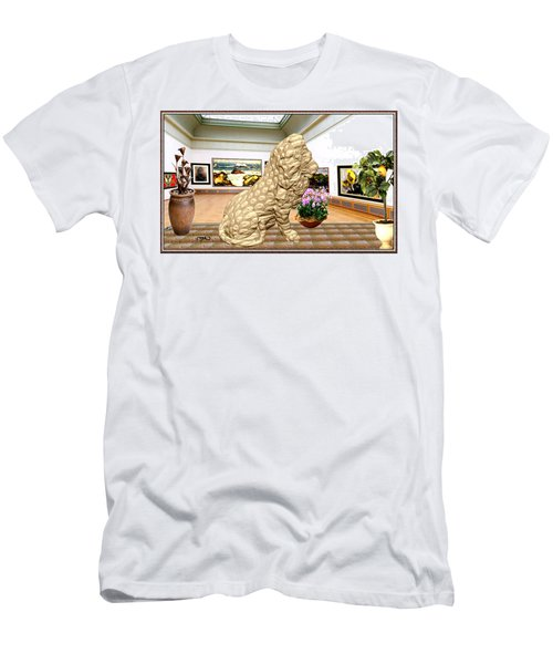 Virtual Exhibition - Statue Of A Lion Men's T-Shirt (Slim Fit) by Pemaro