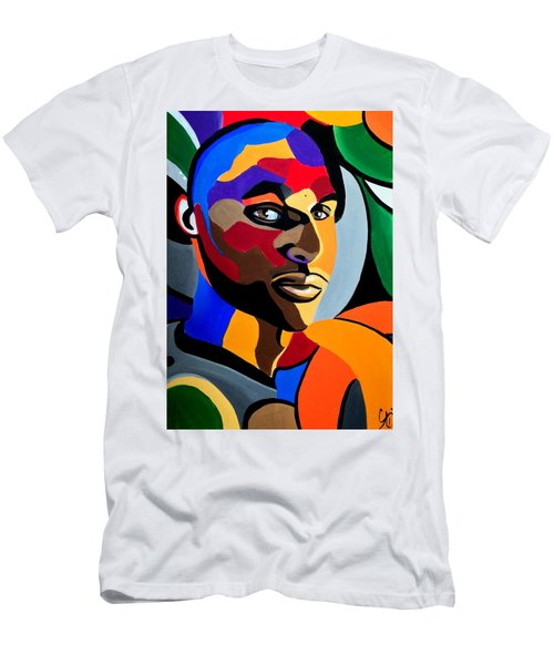 Visionaire, Abstract Male Face Portrait Painting - Illusion Abstract Artwork - Chromatic Men's T-Shirt (Athletic Fit)