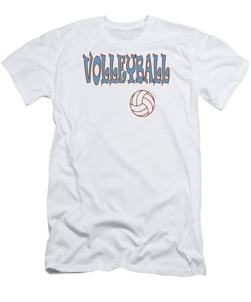 Men's T-Shirt (Athletic Fit) featuring the digital art Volleyball Apparel by David Millenheft