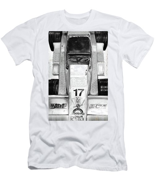 Men's T-Shirt (Slim Fit) featuring the mixed media Vroom by Tony Rubino