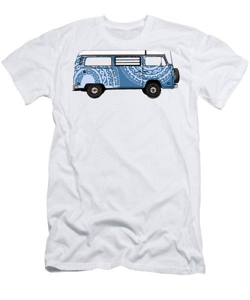 Vw Blue Van Men's T-Shirt (Athletic Fit)