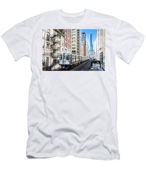 The Wabash L Train Men's T-Shirt (Athletic Fit)
