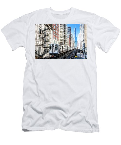The Wabash L Train Men's T-Shirt (Athletic Fit)