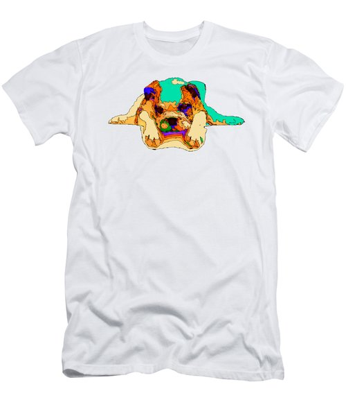 Waiting For You. Dog Series Men's T-Shirt (Athletic Fit)