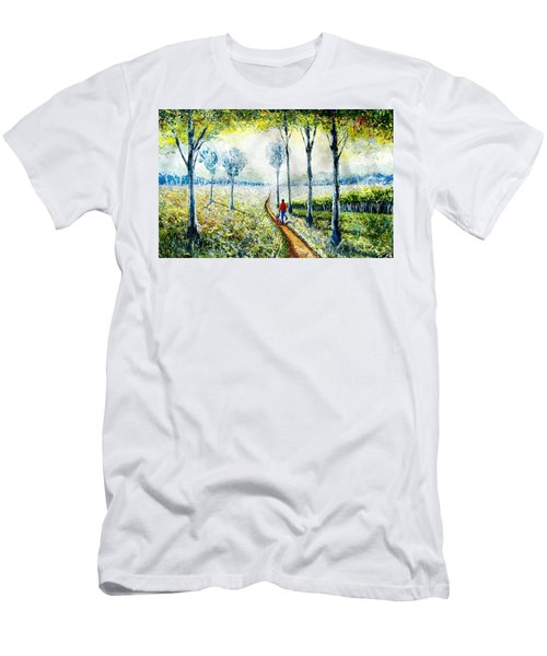 Walk Into The World Men's T-Shirt (Athletic Fit)