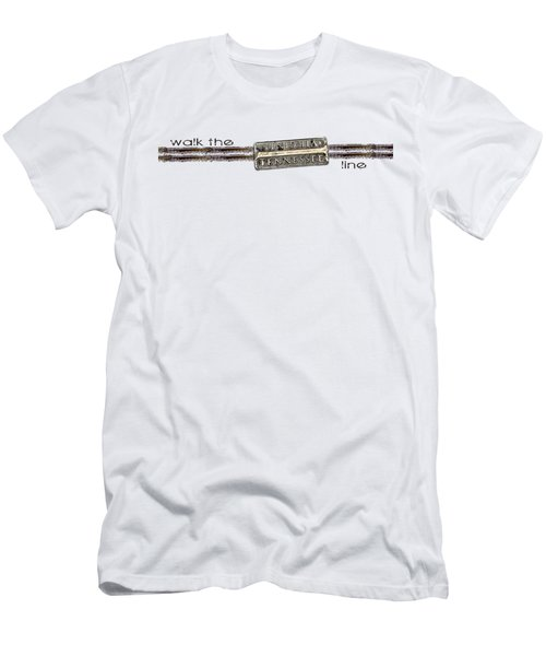 Walk The Line Men's T-Shirt (Slim Fit) by Heather Applegate