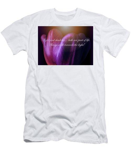 Walk Towards The Light Men's T-Shirt (Athletic Fit)