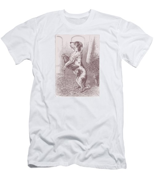 Men's T-Shirt (Slim Fit) featuring the drawing Walkies? by David Davies