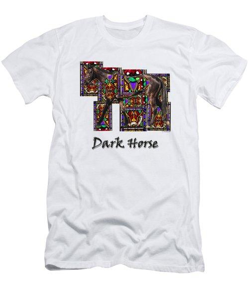Walking Horse 2 Dark Horse Men's T-Shirt (Slim Fit) by Tom Conway