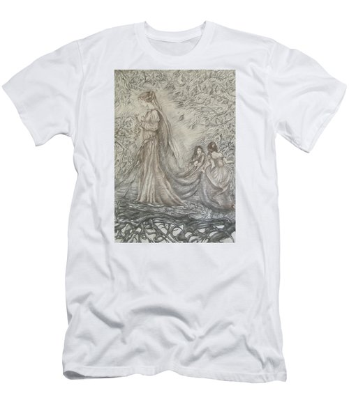 Walking In The Magic Garden Men's T-Shirt (Slim Fit) by Rita Fetisov