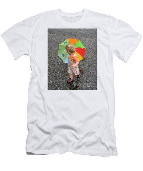 Walking In The Rain Men's T-Shirt (Slim Fit) by Sami Martin