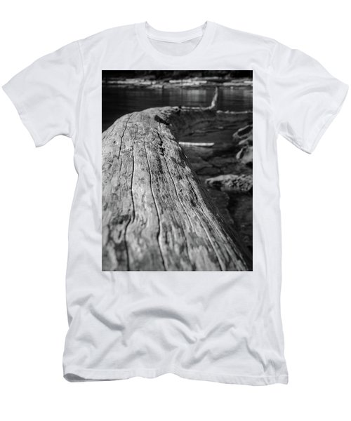 Walking On A Log Men's T-Shirt (Athletic Fit)