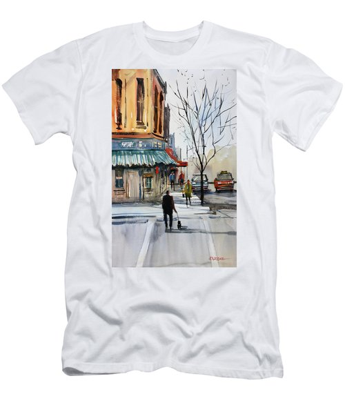 Walking The Dog Men's T-Shirt (Athletic Fit)