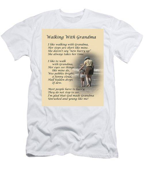 Walking With Grandma Men's T-Shirt (Athletic Fit)