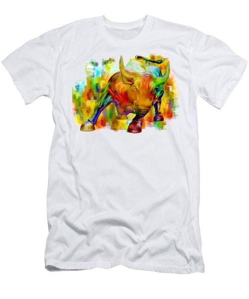 Wall Street Bull Men's T-Shirt (Slim Fit) by Jack Zulli