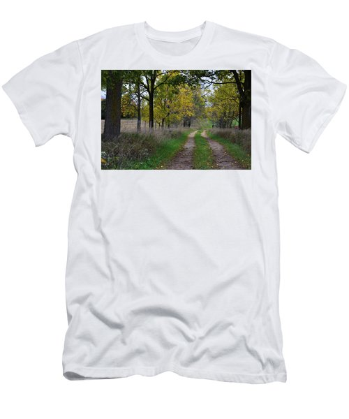 Men's T-Shirt (Athletic Fit) featuring the photograph Walnut Lane by Melissa Lane