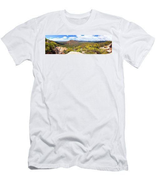 Wangara Hill Flinders Ranges South Australia Men's T-Shirt (Slim Fit) by Bill Robinson