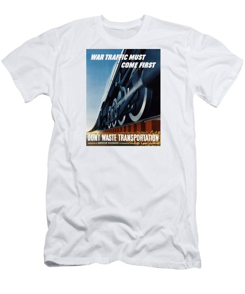 War Traffic Must Come First Men's T-Shirt (Athletic Fit)