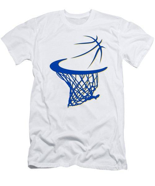 Warriors Basketball Hoop Men's T-Shirt (Slim Fit) by Joe Hamilton