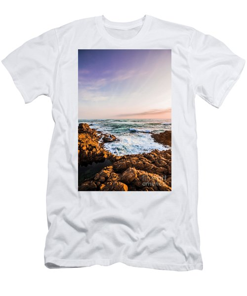 Wash Of Pastel Seas Men's T-Shirt (Athletic Fit)