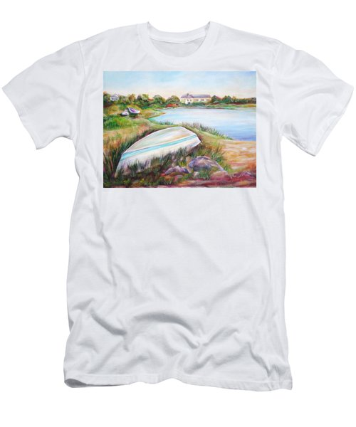 Men's T-Shirt (Slim Fit) featuring the painting Washed Up by Patricia Piffath