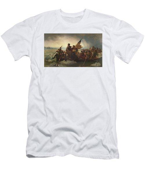 Washington Crossing The Delaware Men's T-Shirt (Athletic Fit)