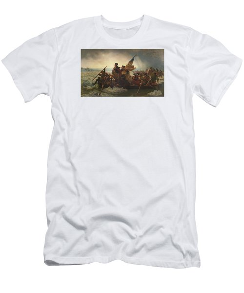 Washington Crossing The Delaware Men's T-Shirt (Slim Fit) by War Is Hell Store