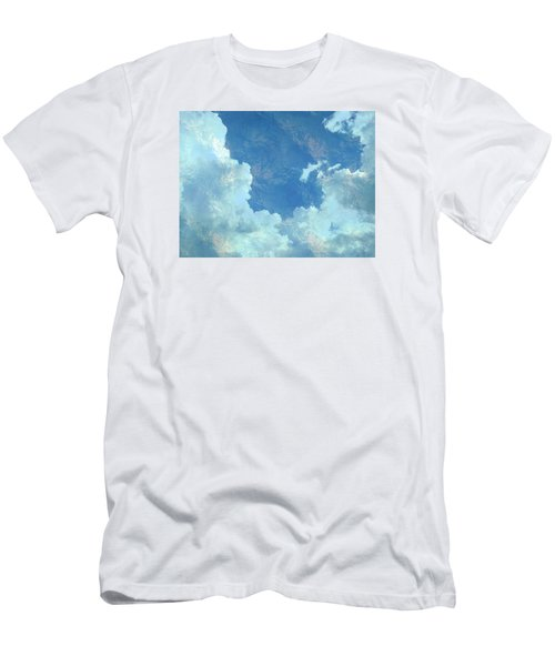 Men's T-Shirt (Slim Fit) featuring the photograph Water Clouds by Robin Regan