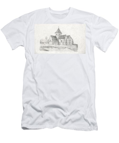 Water Inlet Near Church Men's T-Shirt (Athletic Fit)
