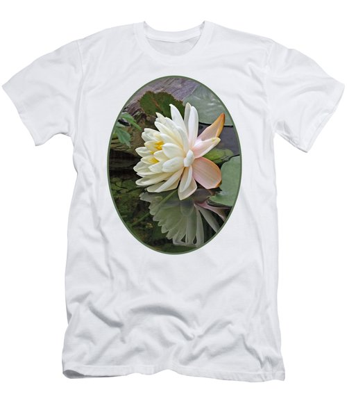 Water Lily Reflections Men's T-Shirt (Slim Fit) by Gill Billington