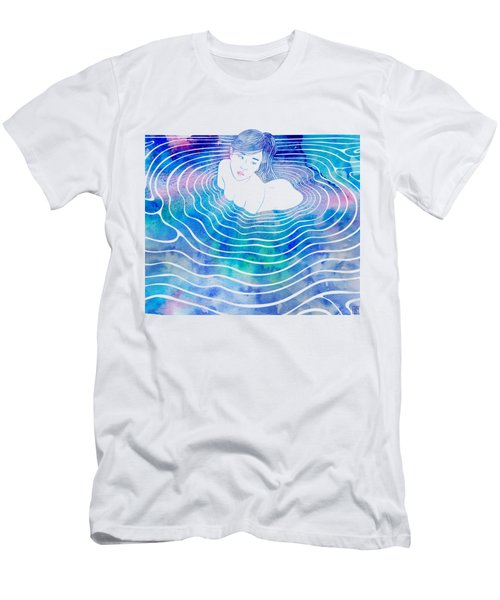 Water Nymph Lxxxix Men's T-Shirt (Slim Fit) by Stevyn Llewellyn
