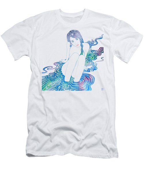 Water Nymph Lxxxvi Men's T-Shirt (Athletic Fit)