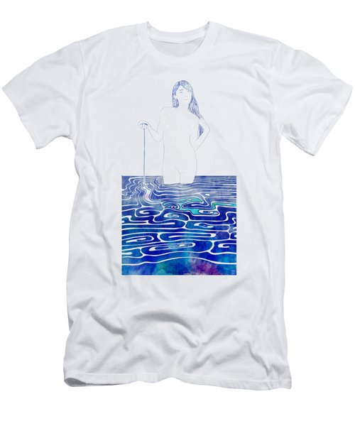 Water Nymph Xc Men's T-Shirt (Slim Fit) by Stevyn Llewellyn