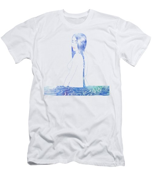 Water Nymph Xcii Men's T-Shirt (Slim Fit) by Stevyn Llewellyn