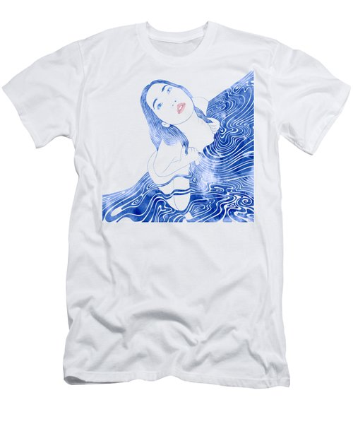 Water Nymph Xcvii Men's T-Shirt (Athletic Fit)