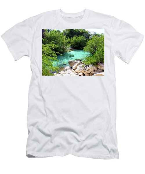 Men's T-Shirt (Athletic Fit) featuring the photograph Water Shallows by Francesca Mackenney