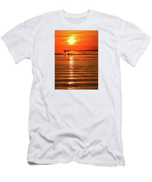Water Skiing At Sunrise  Men's T-Shirt (Athletic Fit)