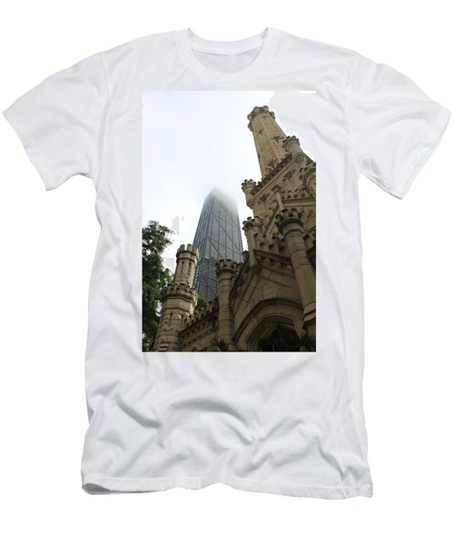 Water Tower And Hancock Men's T-Shirt (Athletic Fit)